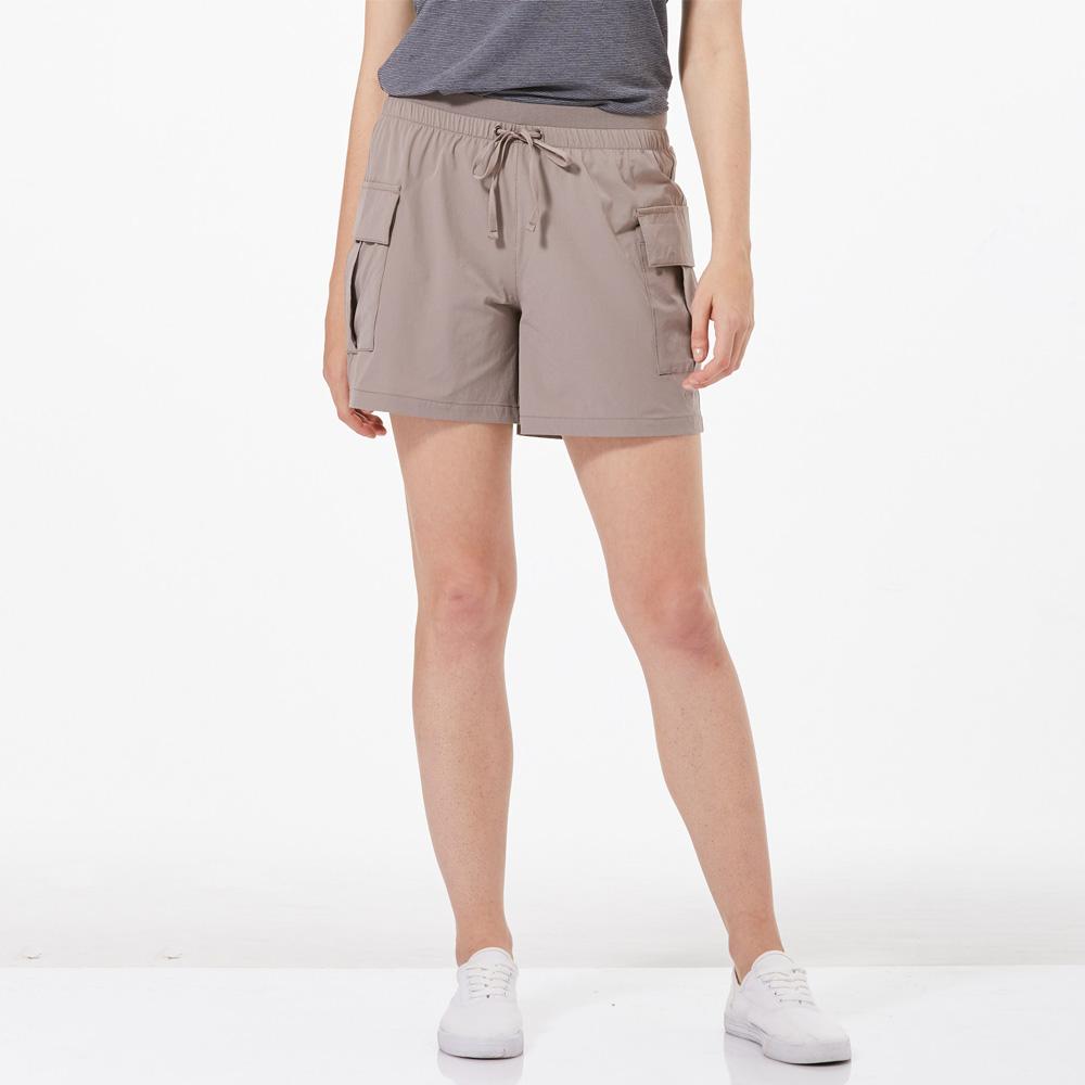 【HAKERS 哈克士】女 抗UV快乾彈性短褲-溫鐵灰
