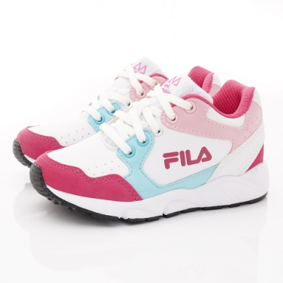 FILA頂級童鞋 高足弓護踝機能運動鞋 EI08T-155桃粉藍(中大童段)