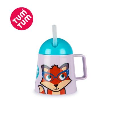 TUM TUM 狐狸費西蒂-多功能吸管不倒杯180ml