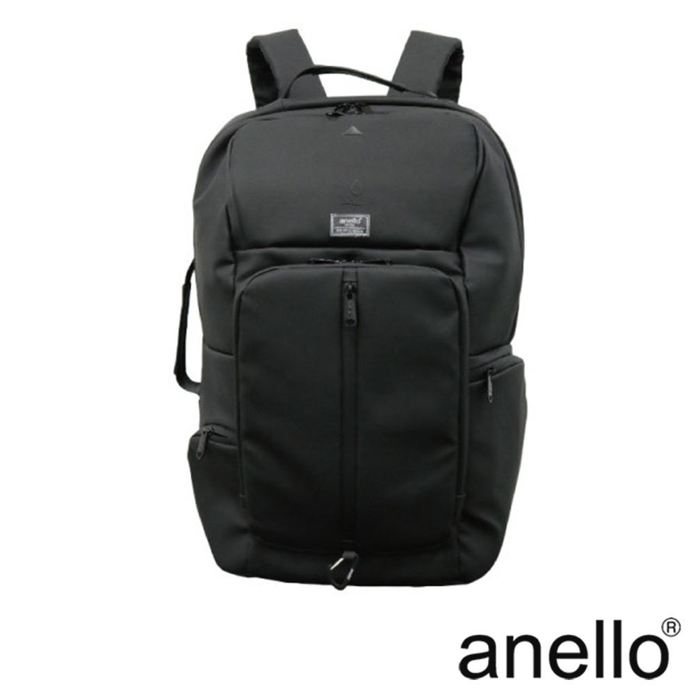 anello STUDIO多功能防潑水通勤後背包 黑色