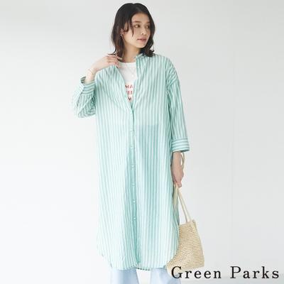 Green Parks  條紋圓領連身裙