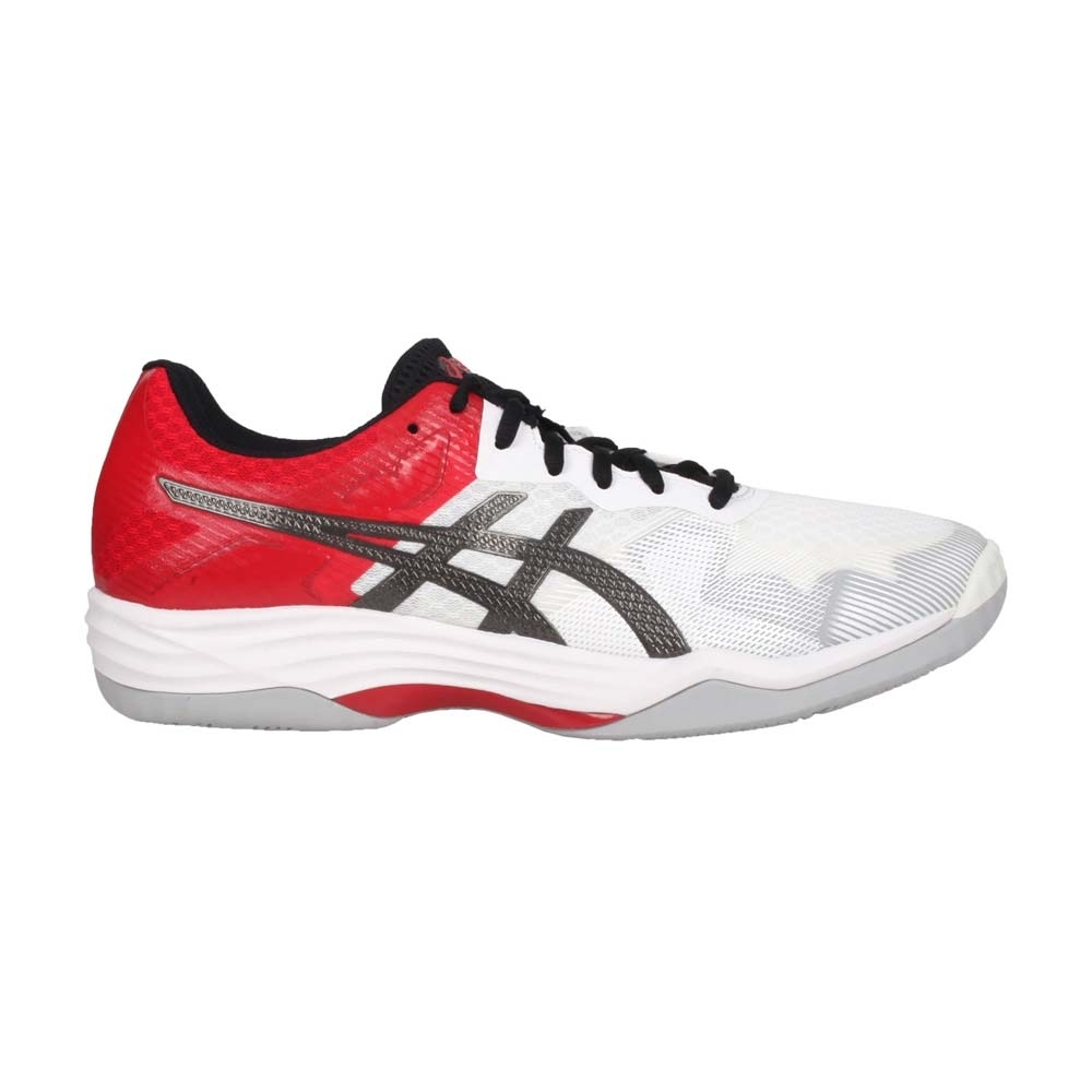 ASICS GEL-TACTIC 男排羽球鞋-排球 羽球 訓線 亞瑟士 1071A031-101 白紅黑灰