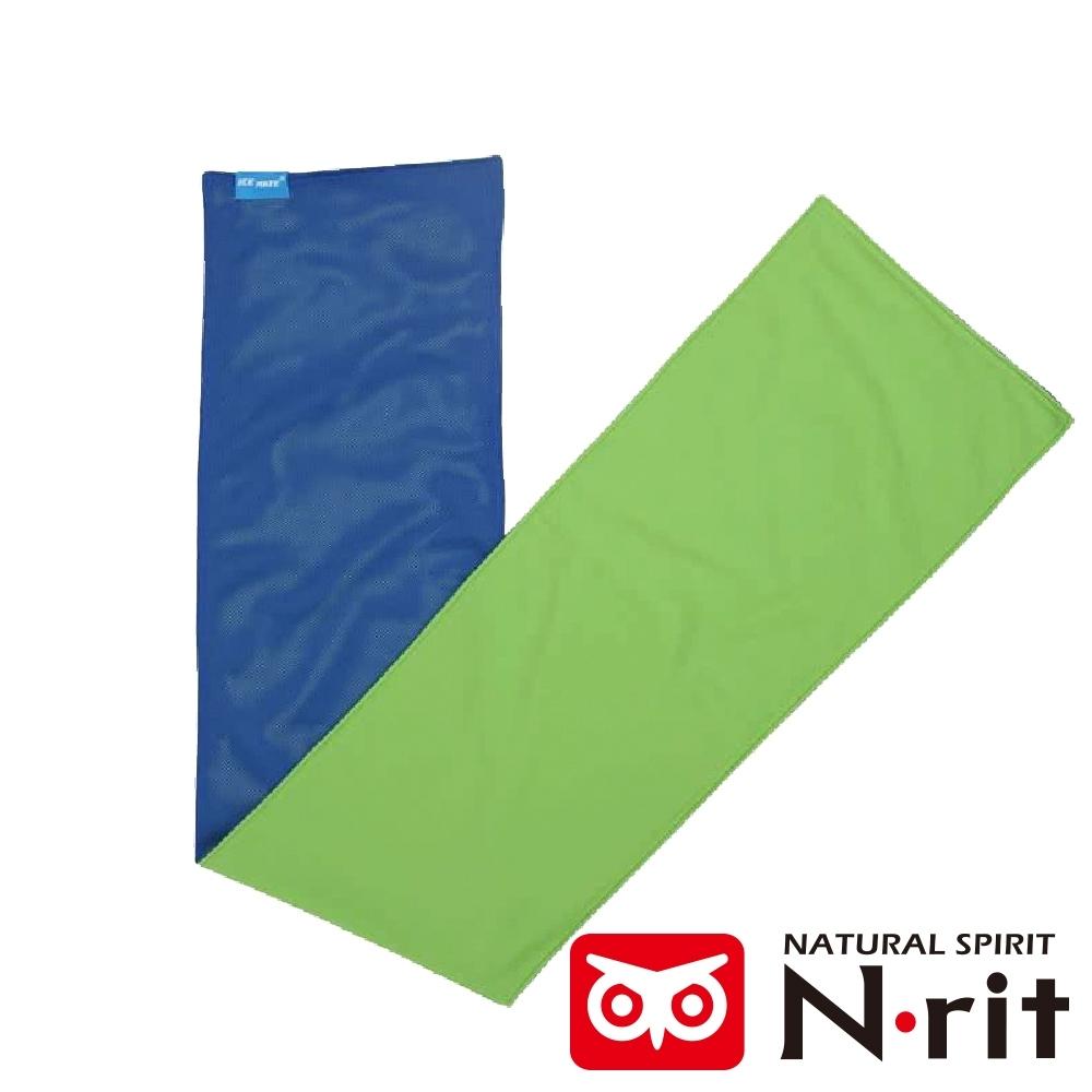 【N • rit 】ICEMATE雙面持續涼感快乾運動吸水巾(20X80CM)/NSC325藍綠