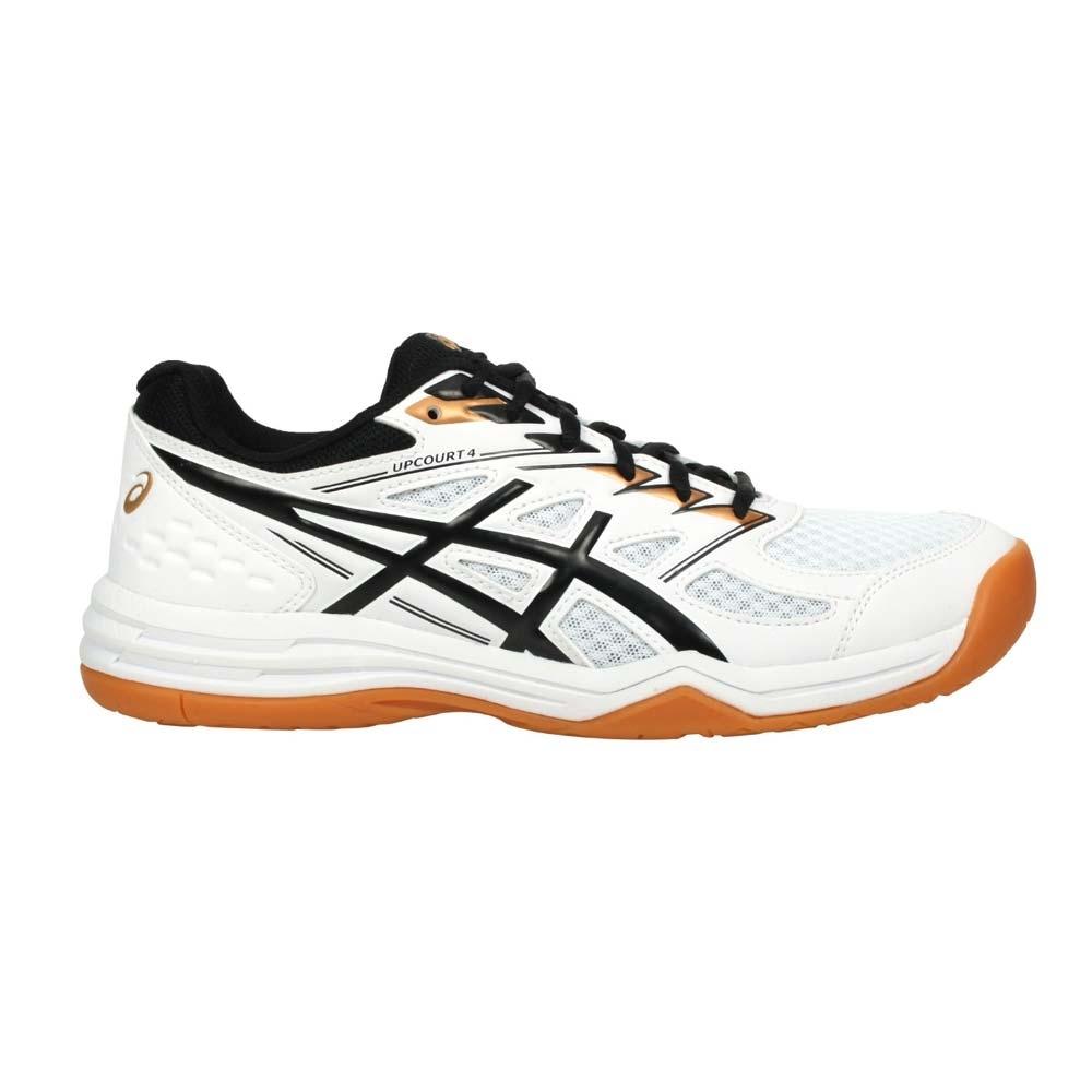 ASICS UPCOURT 4 男排羽球鞋-訓練 排球 羽球 亞瑟士 1071A053-102 白黑金