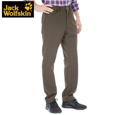 【Jack wolfskin 飛狼】男 彈性休閒保暖排汗長褲『卡其』