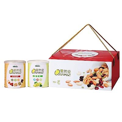 統一生機 果然優堅葡禮盒(綜合堅果360g+葡萄乾400g)