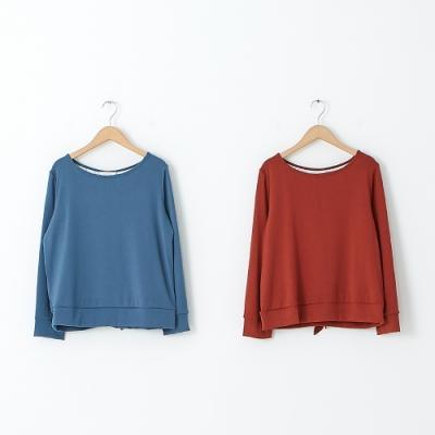 【KiKi】蕾絲美背造型針織衫-上衣(二色/魅力商品/版型適中)