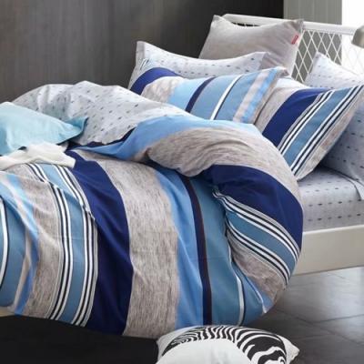 戀家小舖 / 單人床包枕套組 愛戀米蘭 100%精梳純棉