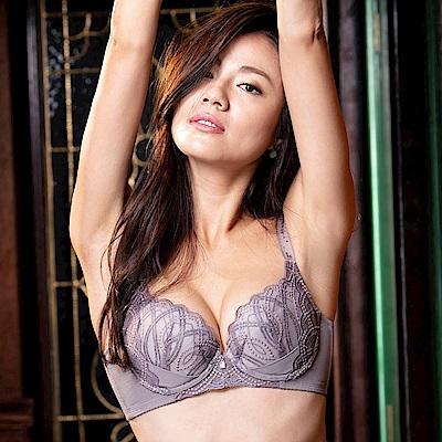 摩奇X-美麗系列挺魔力 C加大尺碼-DEF罩杯調整型內衣(粉藕紫)