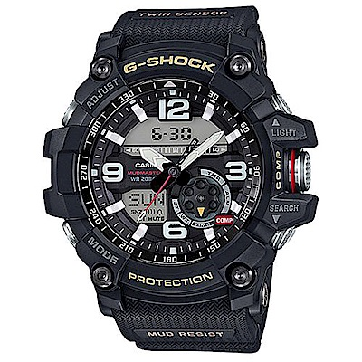 G-SHOCK 極限大陸 防塵泥多功能計時運動錶 GG-1000-1A