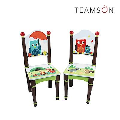 Teamson 童趣手繪木製兒童椅子-2入組 (14款)