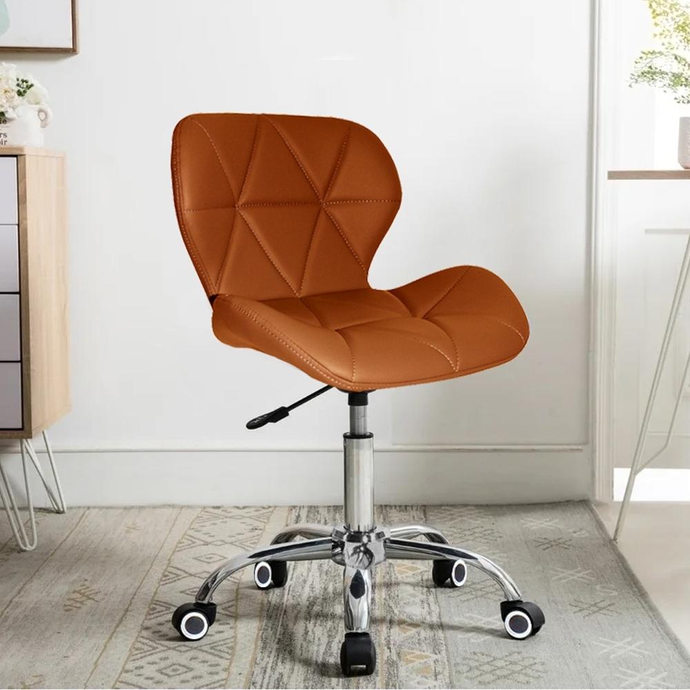 E-home Radar雷達軟墊電腦椅 棕色