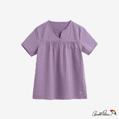 Arnold Palmer-女裝-直條紋提織A-line上衣-紫