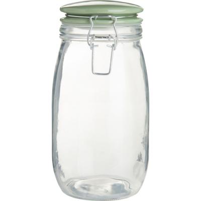 《Premier》扣式玻璃密封罐(綠1.5L)
