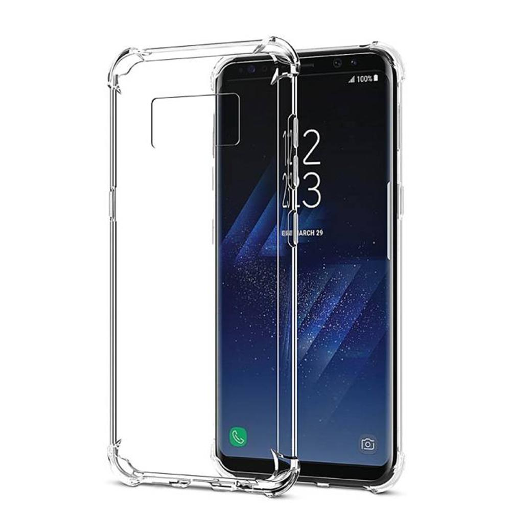 三星 Galaxy S8+ 透明 四角氣囊防摔 手機殼 透明x1 (Samsung S8+手機殼 S8+保護殼 S8 Plus手機殼 S8 Plus保護殼)