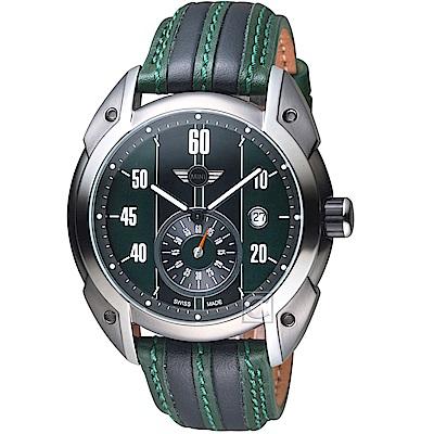 MINI Swiss Watches Cooper復古賽車錶(MINI-160302)-綠