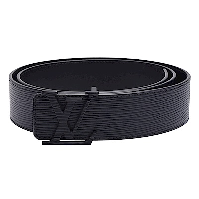 LV M9229S 經典EPI牛皮黑色金屬LV字母釦環腰帶/皮帶(黑)