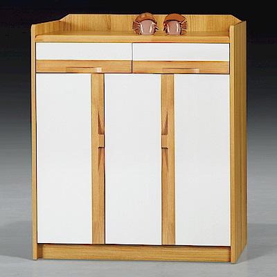 AS-波特雙色鞋櫃-90x35x106cm