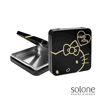 Solone Hello Kitty 隨身彩盒-時尚黑曜金(4色眼影收納盒)
