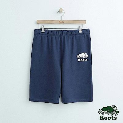男裝Roots 經典棉質休閒短褲-藍
