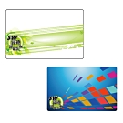 LY002 10張 印刷IC卡 方塊 綠帶 圖案 (雙面印) Mifare感應卡