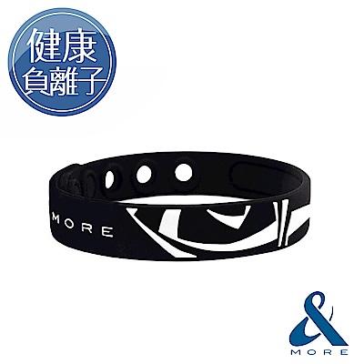 &MORE愛迪莫 健康負離子運動手環-KADORI(黑色)