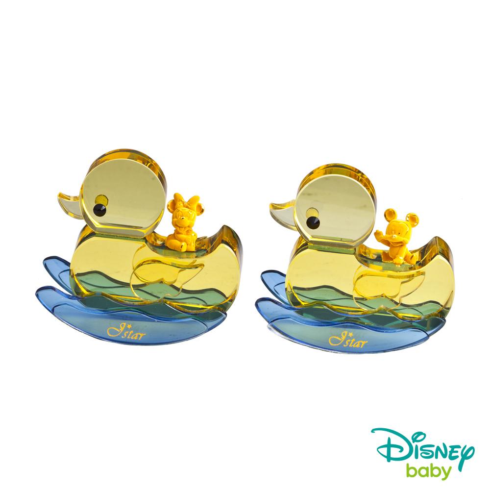 Disney迪士尼系列金飾 小鴨水晶擺件-黃金米奇+黃金美妮款