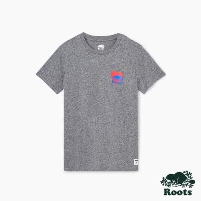 女裝Roots 加拿大國慶愛就是愛短袖T恤-灰色