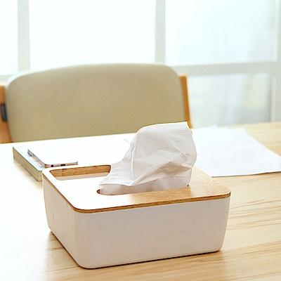 E.City_(買二送二)多功能歐風木蓋紙巾收納盒共4入