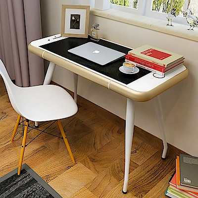 【STYLE 格調】Iphone 造型強化玻璃書桌/工作桌/電腦桌