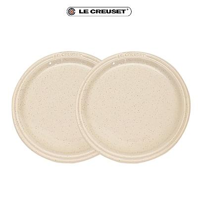 [滿5千再折1千] LE CREUSET 瓷器圓盤 27cm- 2入(星空白)