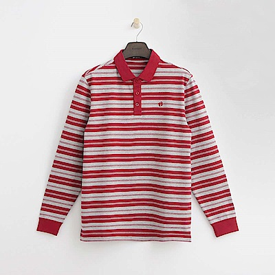 Hang Ten - 男裝 - 經典條紋POLO衫-紅色