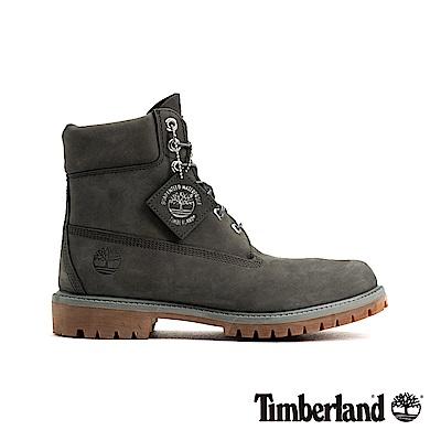 Timberland 男款深灰色户外防水皮革6吋靴|A1UFH