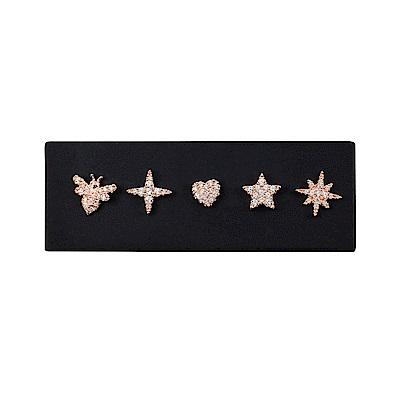 apm MONACO法國精品珠寶 閃耀多款造型玫瑰金耳針式耳環