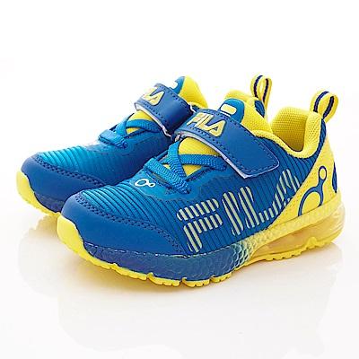 FILA頂級童鞋 穩定支撐氣墊款 EI29S-399藍黃(中大童段)