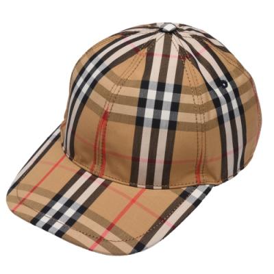 BURBERRY 經典Vintage格紋棒球帽(古典黃)