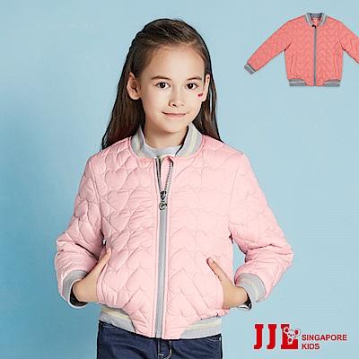 (宅配)JJLKIDS 愛心壓紋輕型保暖外套(2色)