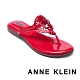 ANNE KLEIN-ALLTHEWAY 經典品牌圖飾 清涼顯瘦夾腳拖鞋-鏡紅 product thumbnail 1