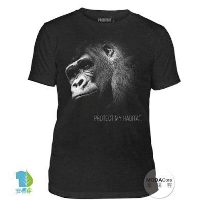 摩達客-美國The Mountain保育系列 保護猩猩 中性短T恤 柔軟高級混紡