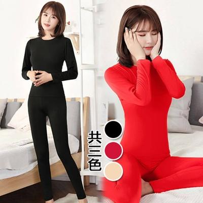 【韓國K.W.】日式簡約圓領絨內裏內衣家居套裝