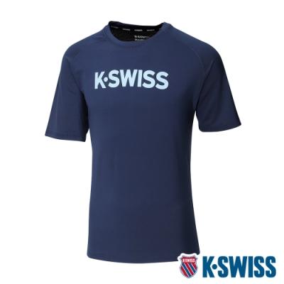 K-SWISS Mesh Back Tee涼感排汗T恤-男-藍