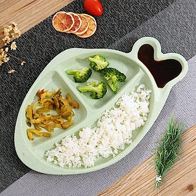 Homely Zakka 麥趣食光健康環保小麥魚型分隔餐盤(森林綠)