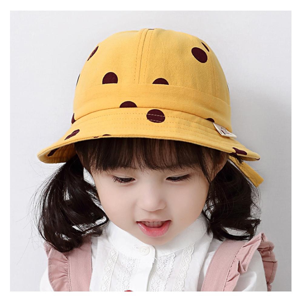 童趣春夏點點造型兒童遮陽盆帽
