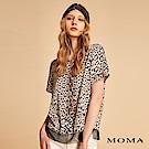 MOMA 豹紋撞色拼接雪紡上衣