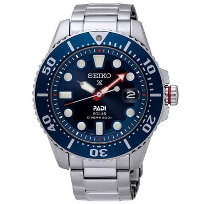 SEIKO精工Prospex太陽能200米潛水手錶 SNE435J1-藍X銀/43mm