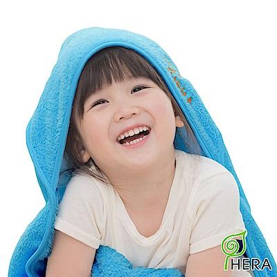 HERA 3M專利瞬吸快乾抗菌超柔纖 嬰幼童連帽巾-皇家藍