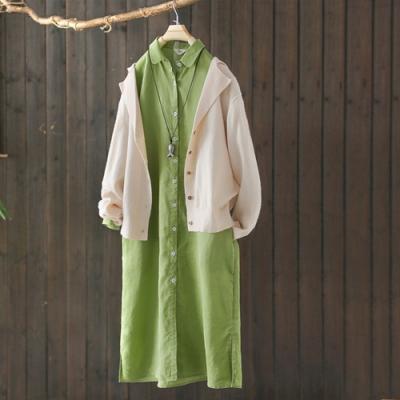 長袖針織開衫寬鬆外穿上衣薄版外套-設計所在