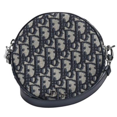 Dior BABY BALL經典OBLIQUE緹花布斜背小圓袋