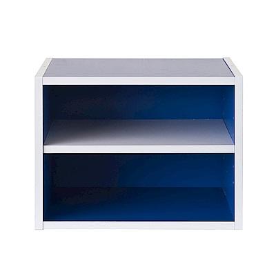 TZUMii 艾莉絲二格櫃-藍色 40*29*30 cm