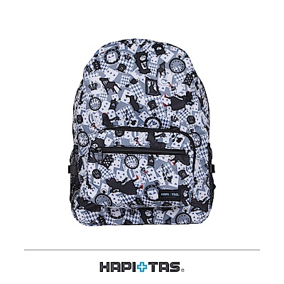 日本HAPI+TAS 摺疊後背包 新版灰色愛麗絲
